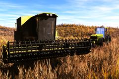 Agriculture Harvester Concept 3D render Stock Illustration