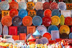 Earthenware in the market Stock Photos