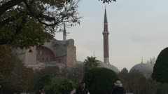 Istanbul minarets and domes, medium shot Stock Footage