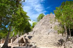 la iglesia (church) pyramid, coba, quintana roo, mexico - stock photo