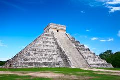 Chichen itza, mexico, one of the new seven wonders of the world Stock Photos