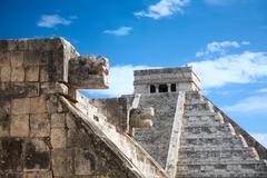 Chichen itza, mexico, one of the new seven wonders of the world, view from th Stock Photos