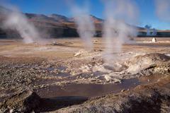 geyser field el tatio in atacama region, chile - stock photo