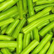 string beans as a background - stock photo