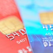 Two credit cards with shallow dof Stock Photos