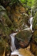 clean fresh water stream flowing - stock photo