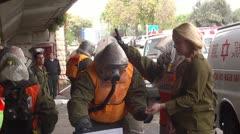 Hospital Emergency training NBC Preparedness ambulance Stock Footage