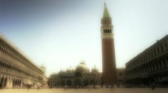 Saint Marks Square Venice wide shot Stock Footage