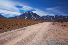 Volcano miscanti, desert atacama, chile Stock Photos