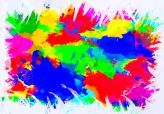Abstract watercolor splat on white background Stock Photos