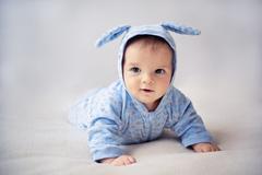 Little bunny newborn baby Stock Photos