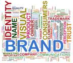 Brand wordcloud Stock Illustration