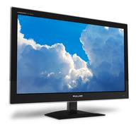Widescreen TFT display with blue sky Stock Illustration