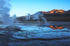 Geyser field el tatio in atacama region, chile Stock Photos