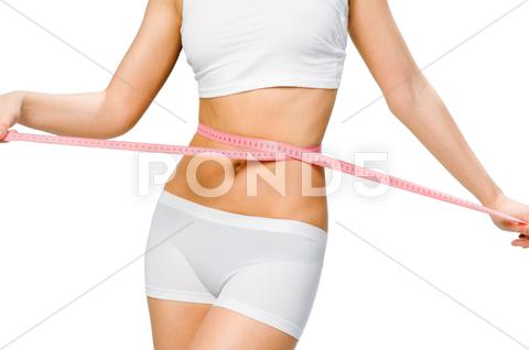 Stock photo of slim waist