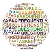 Faq - frequently asked questions Stock Illustration