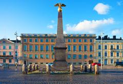 The Market Square in Helsinki, Finland Stock Photos