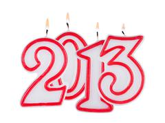 Stock Illustration of 2013 digits