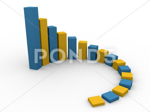 Stock Illustration of circular growth bars