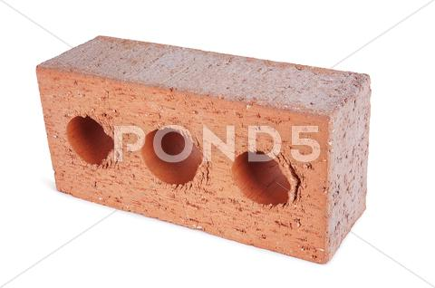 Stock photo of red brick