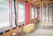 Interior of  construction  home Stock Photos