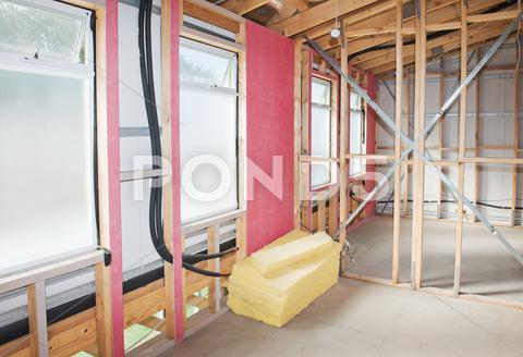 Stock photo of interior of  construction  home