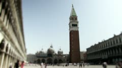 Saint Marks square shift tilt lens Stock Footage