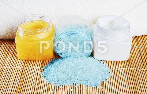 Stock photo of natural spa cosmetics