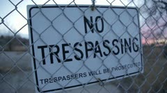 No Trespassing Stock Footage