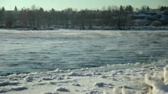 Icy River Stock Footage