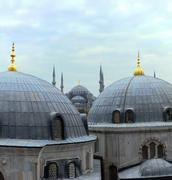 istanbul domes - stock photo