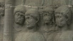 History & culture, Obelisk of Theodosius base, with bas-relief detail, close up Stock Footage
