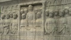 History & culture, Obelisk of Theodosius, detail of bas-relief Stock Footage