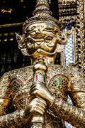 traditional thai architecture grand palace bangkok - stock photo