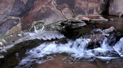Small Waterfall In Negro Bill Canyon Stock Footage