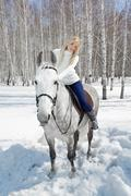 Kaunis tyttö hevonen Kuvituskuvat