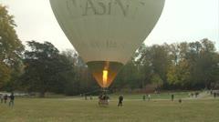 hot-air balloon 21 e - stock footage