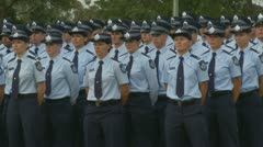 Queensland Police Graduation Ceromony (42) Stock Footage