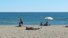 Torremolinos Beach Stock Footage