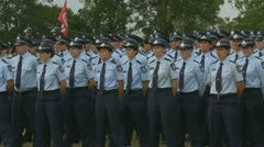 Queensland Police Graduation Ceromony (44) Stock Footage