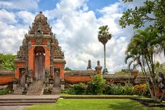 main entrance to taman ayun temple, bali, indonesia - stock photo