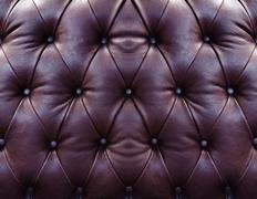 Brown upholstery leather Stock Photos