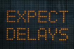 Expect delays sign Stock Photos