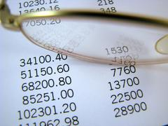 Financial figures - stock photo