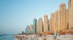 Peoples at Jumeirah Beach HD - stock footage