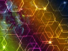 Colourful Space Background Stock Photos
