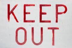Keep out sign Stock Photos