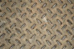 Industrial metal covering - stock photo