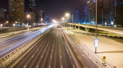 Traffic on NightStreet HD Stock Footage