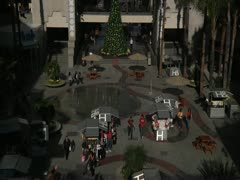 Tilt up in Kodak mall at Christmas during day Stock Footage